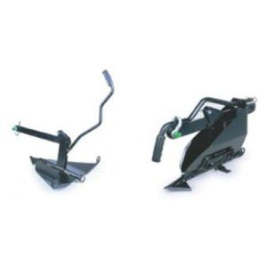 Foldable earth anchor for winch