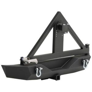 Full Width Rear Steel Bumper with Hitch and Tire Carrier XRC SMITTYBILT- Jeep Wrangler JK