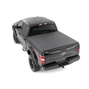 Soft Tri-Fold Bed Cover 5  5in Tri-Fold Rough Country Ford F150 15-18