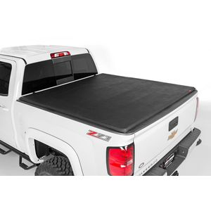 Soft Tri-Fold Bed Cover 6' 5in Tri-Fold Rough Country Toyota Tundra 00-06