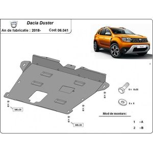 Dacia Duster 2 engine and gearbox skid plate