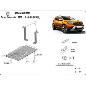 Dacia Duster 2 differential skid plate