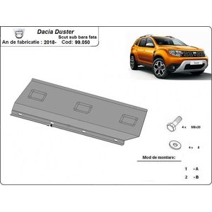 Dacia Duster 2 front bumper skid plate