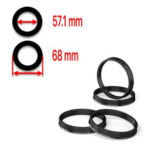 Hub Centric Rings 68mm - 57.1mm high quality polycarbonate - Best Ride