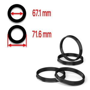 Hub Centric Rings 71.6mm - 67.1mm high quality polycarbonate - Best Ride