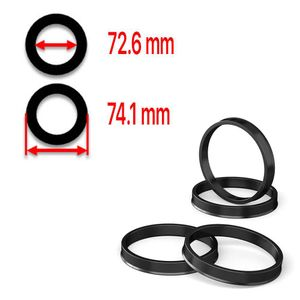 Hub Centric Rings 74.1mm - 72.6mm high quality polycarbonate - Best Ride