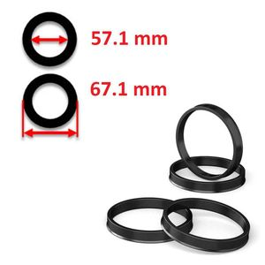 Hub Centric Rings 67.1mm - 57.1mm high quality polycarbonate - Best Ride