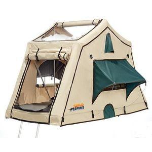 Rooftop tent with changing room and ceiling windows 140x200 - Wild Spirit Midnight