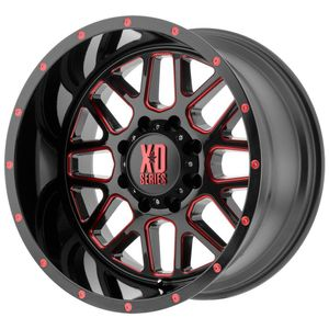 Alloy Wheel 10x20'' 5x127 ET-24 XD 820 Grenade Black with Red Tint- Jeep Wrangler JL